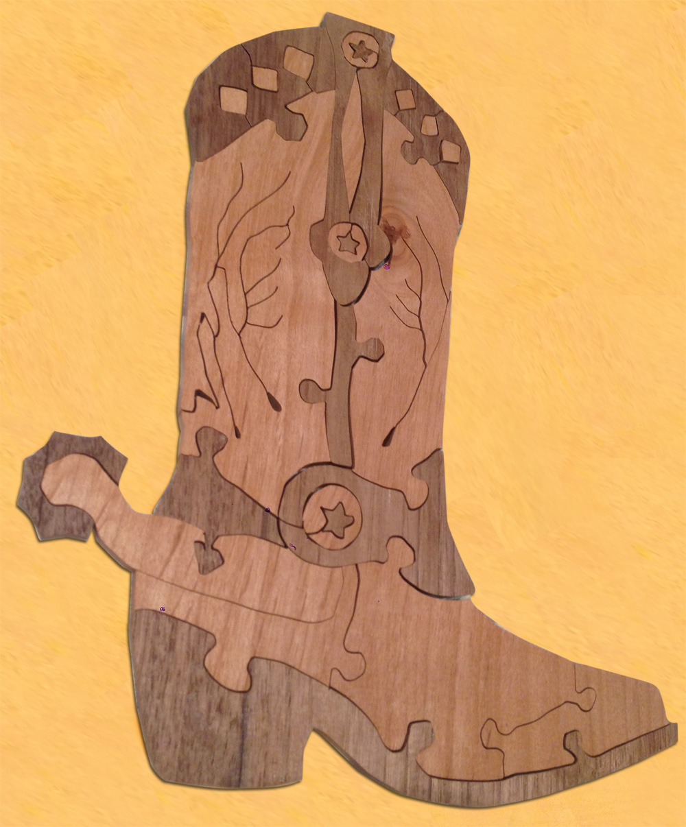 Cowboy Boot (walnut and cherry reverse)