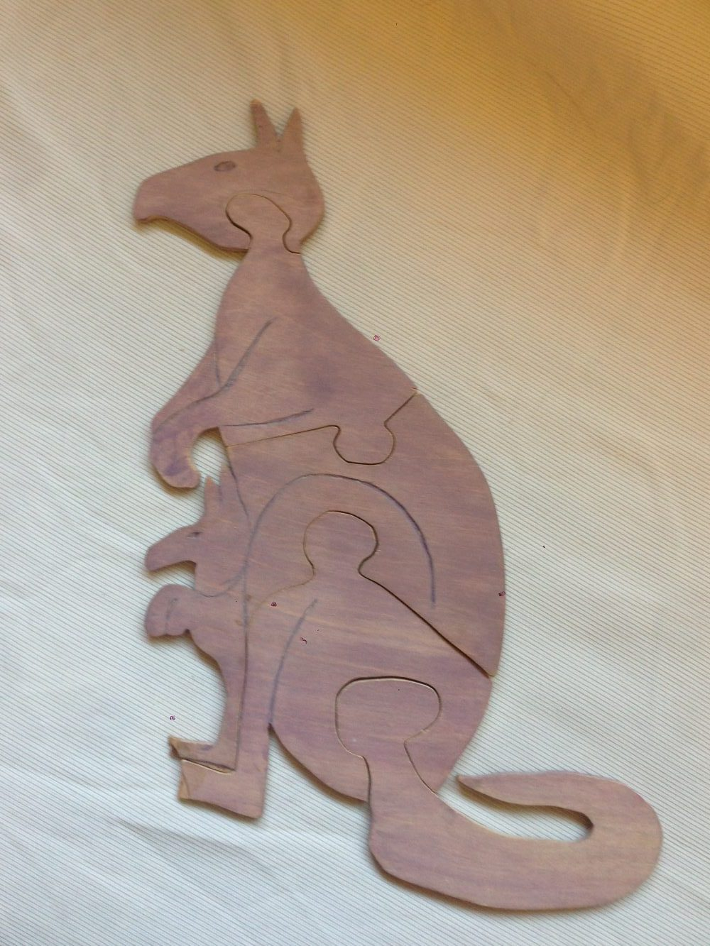 Kangaroo (Baltic Birch) acrylic stained