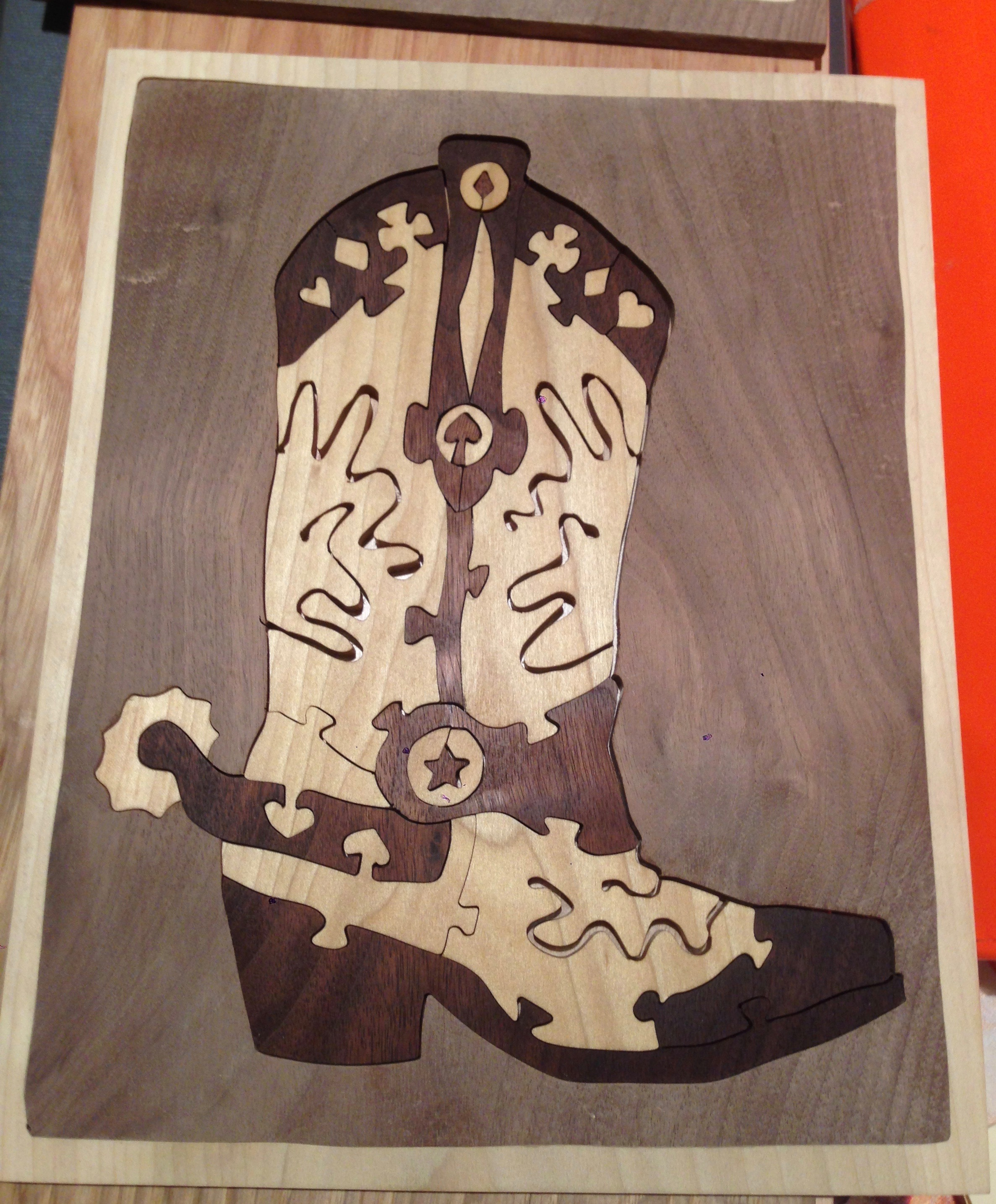 cowboy boot with deck of card theme