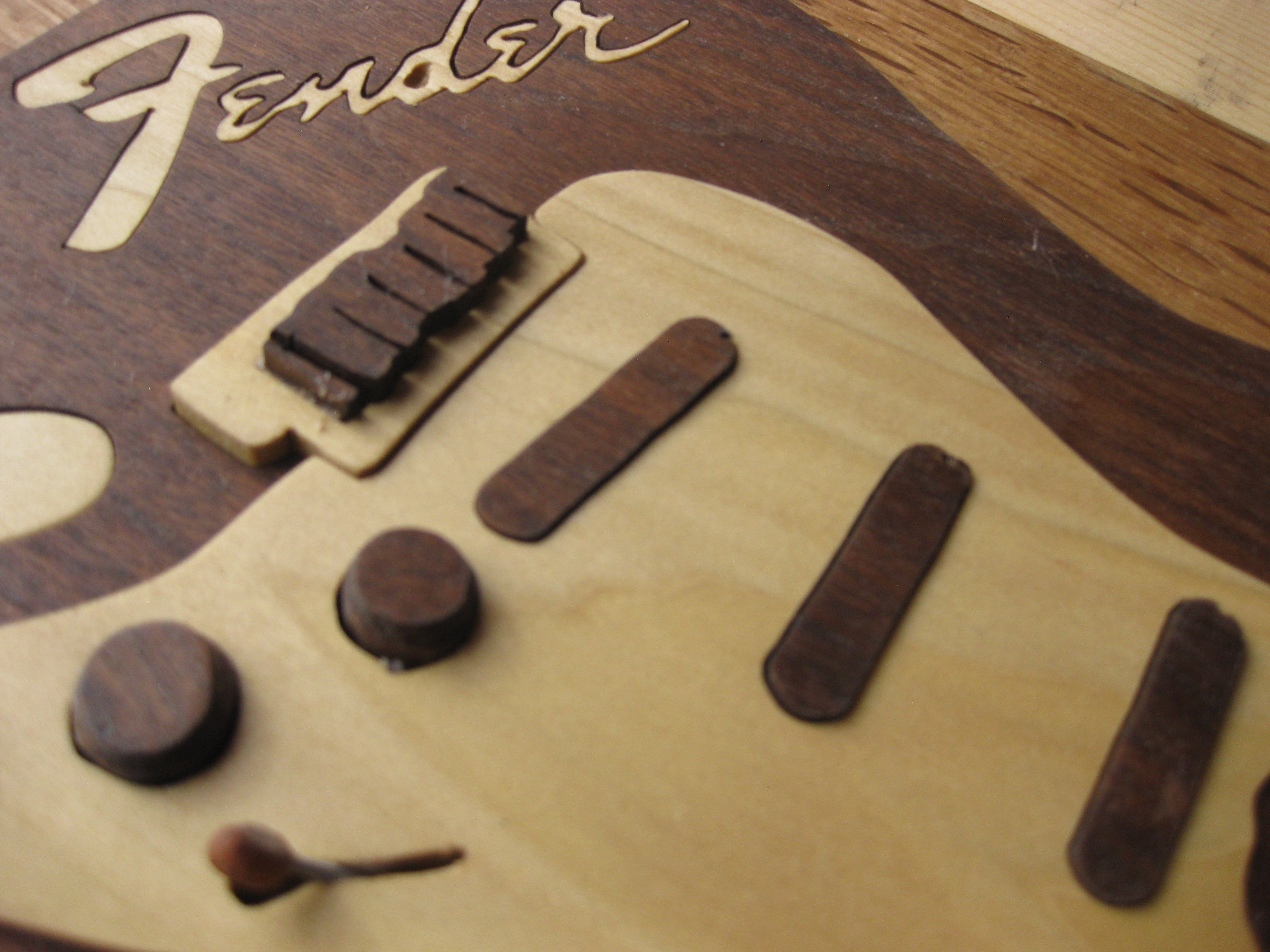 Close-up of Fender Guitar Art Puzzle