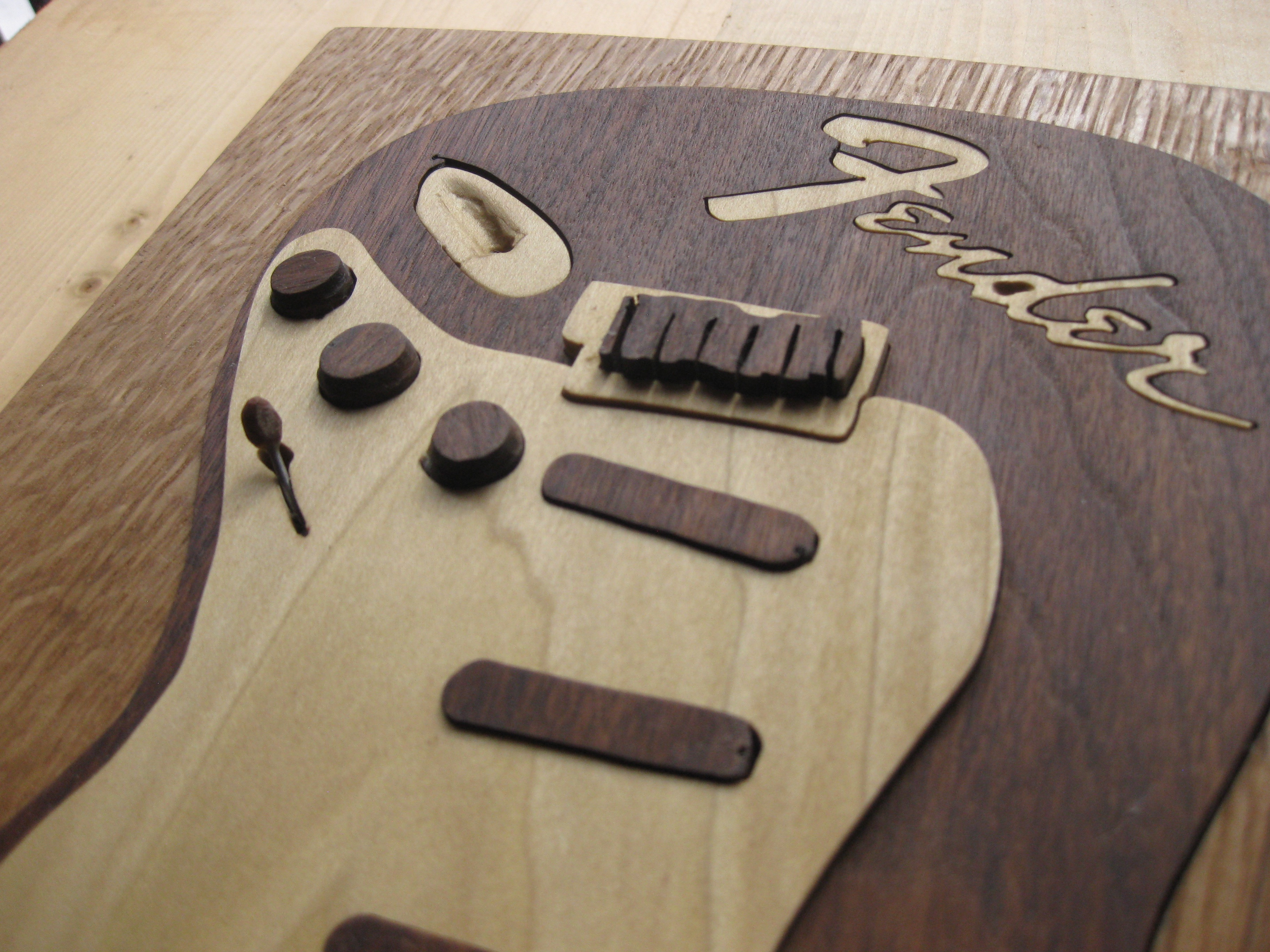 Top Slant View of Fender Guitar Art Puzzle