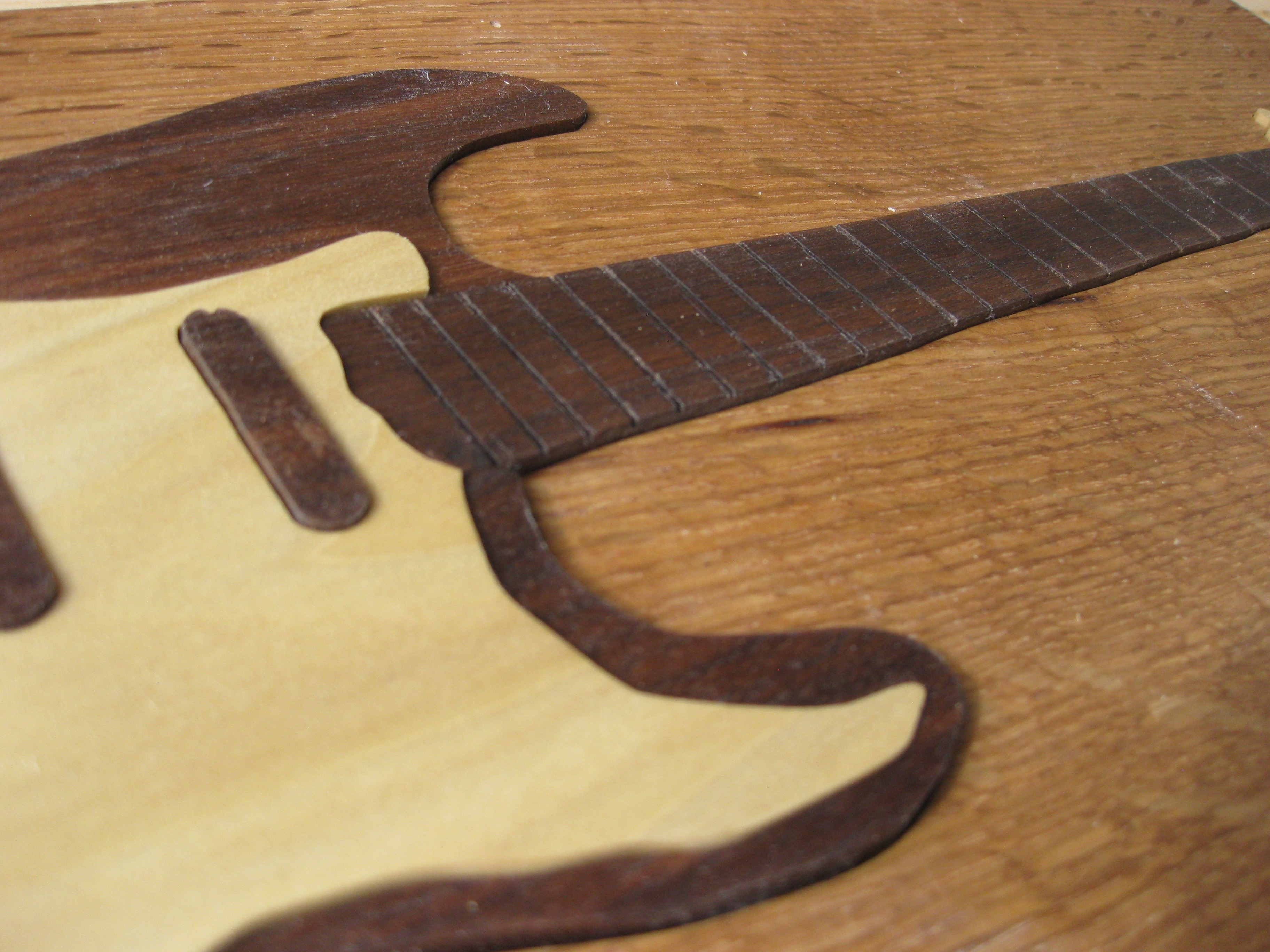 fretboard - black walnut