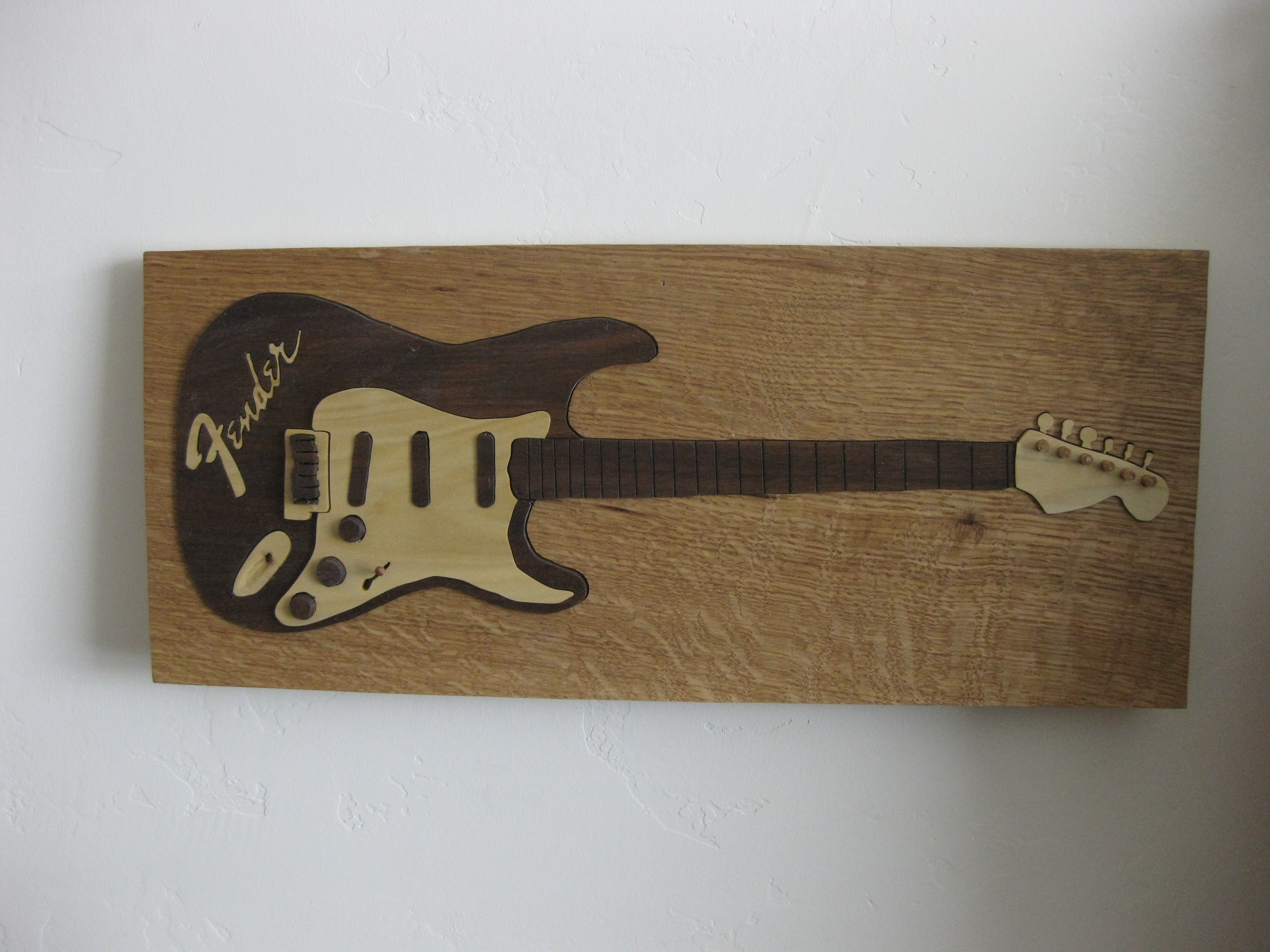 Vintage Fender Guitar Art Puzzle