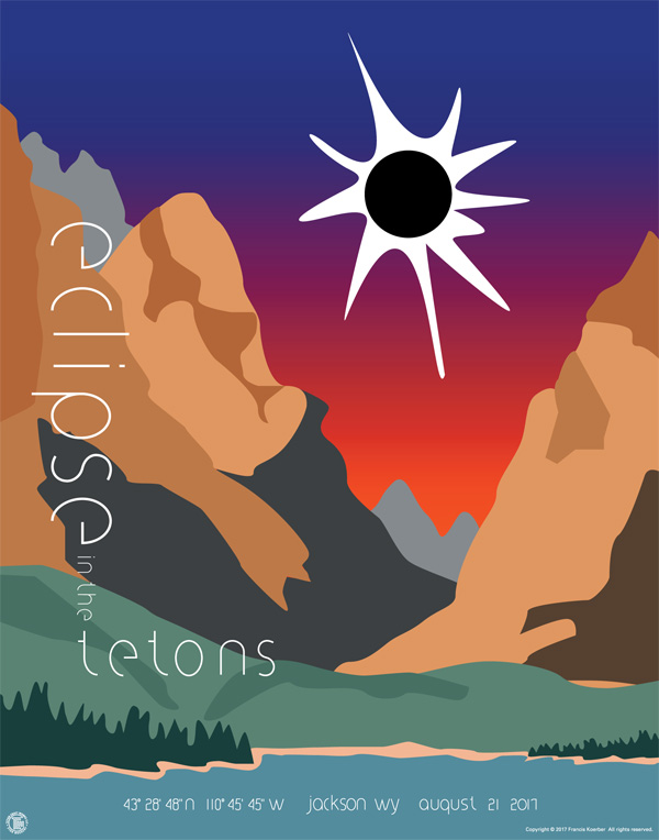 Eclipse in the Tetons - Poster