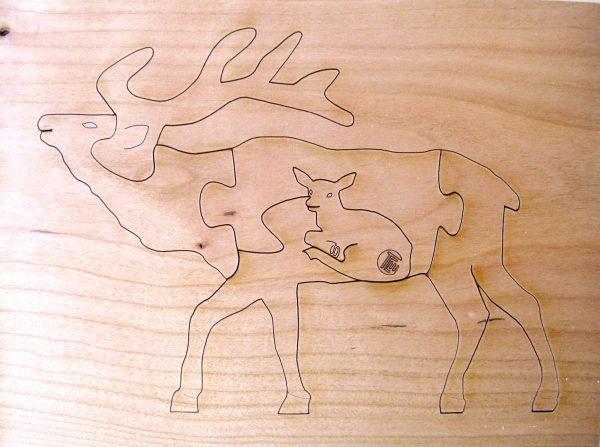 Elk 6 Piece Puzzle