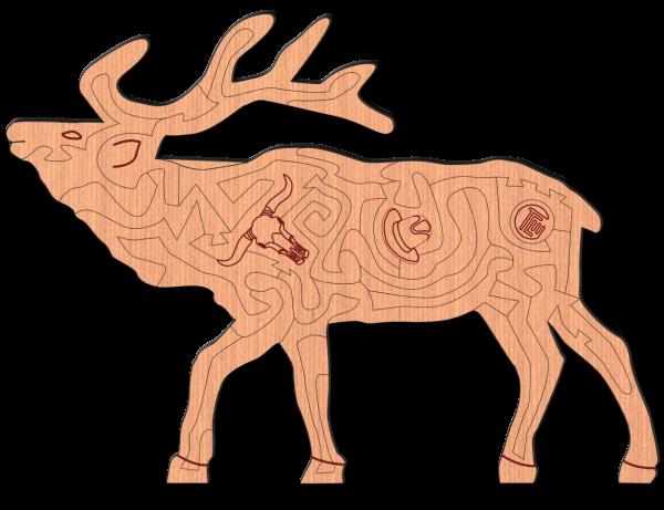 hardwood wildlife elk insanity puzzle