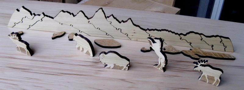 the Teton Puzzle Playset