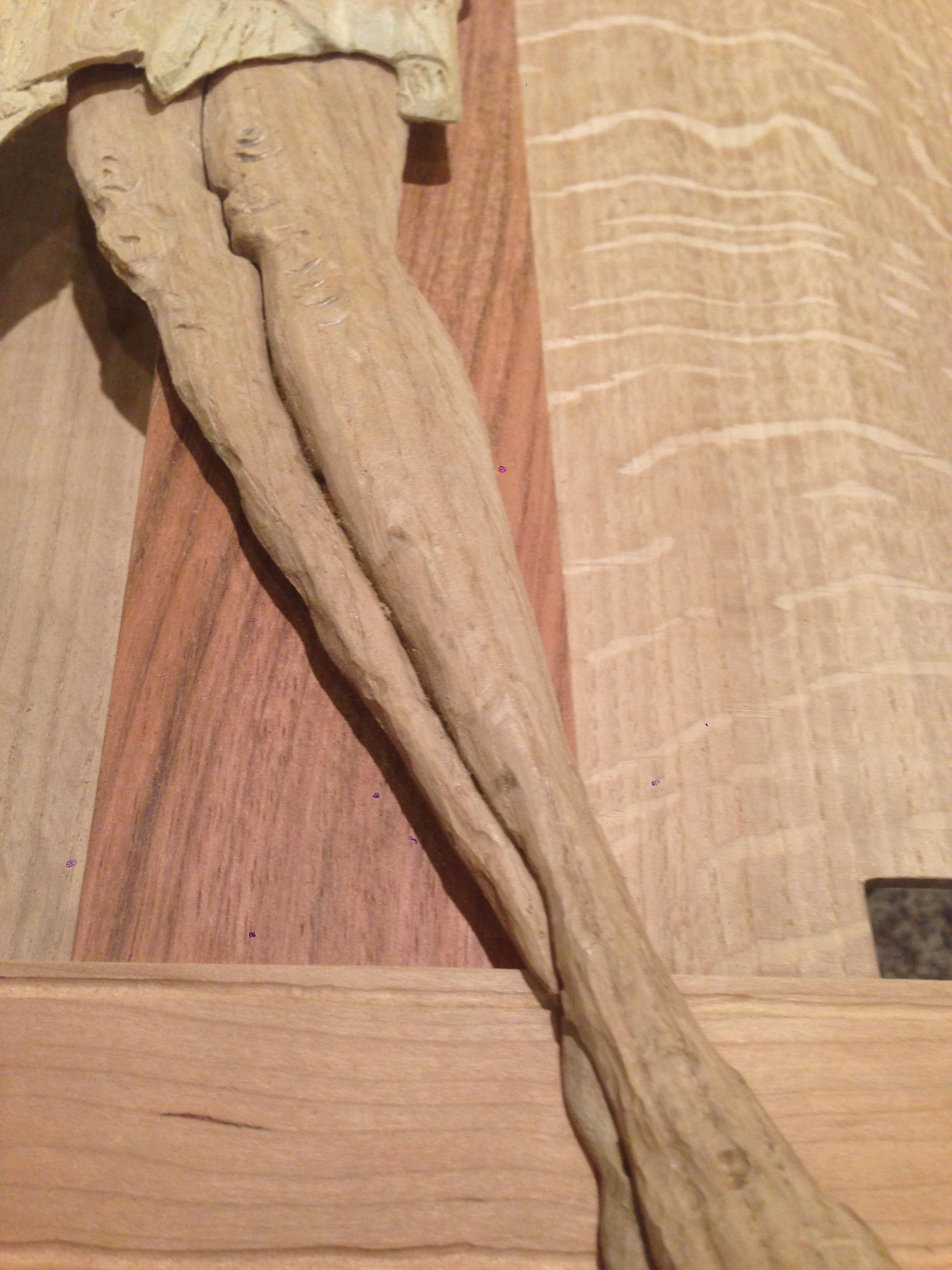 initial carving - leg detail