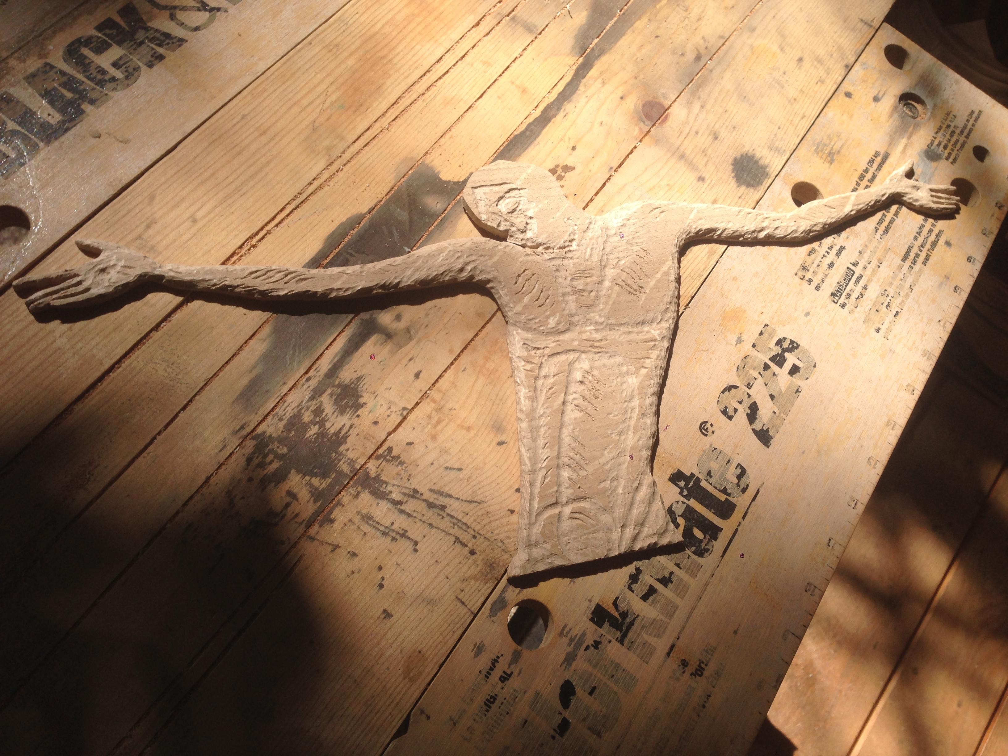 initial carving upper torso