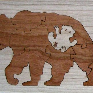 Bear Duotone Hardwood Wildlife Puzzle