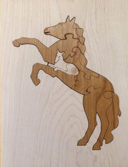 Mustang 8 Piece Duotone Hardwood Puzzle