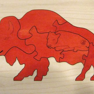 Bison Wildlife Hardwood Puzzle - Red