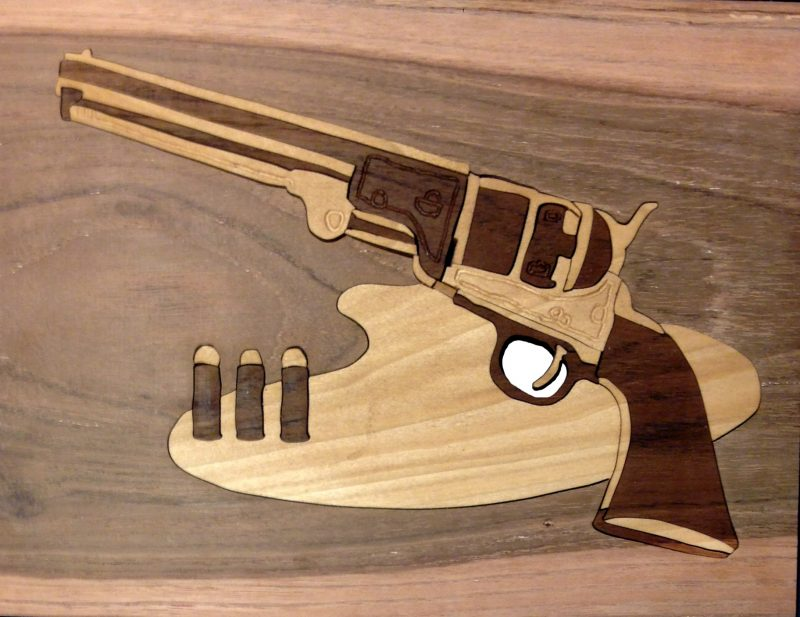 Colt 45 Duotone Handcrafted Hardwood Puzzle