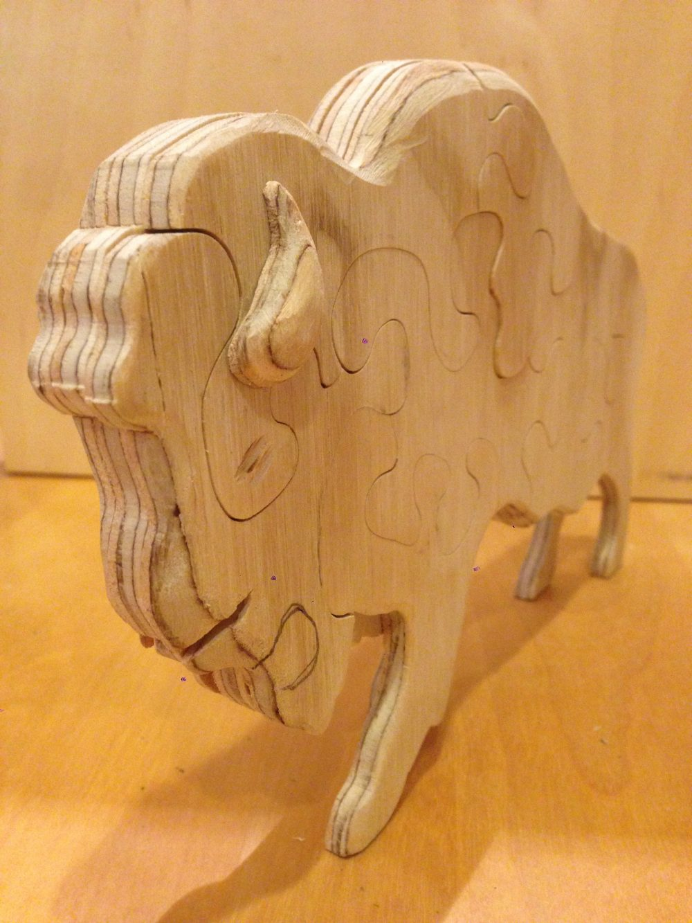 3D-Three layered Bison Puzzle