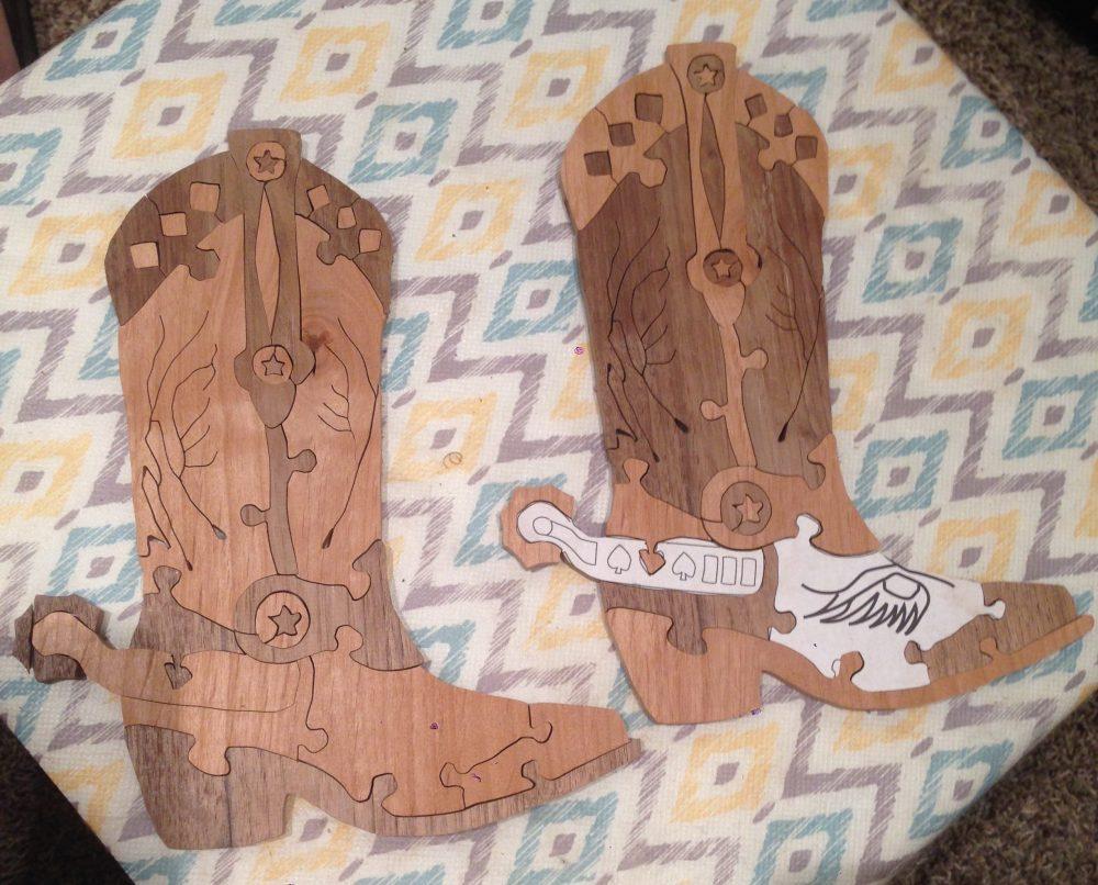 Cowboy Boot (cherry and walnut reverse run)