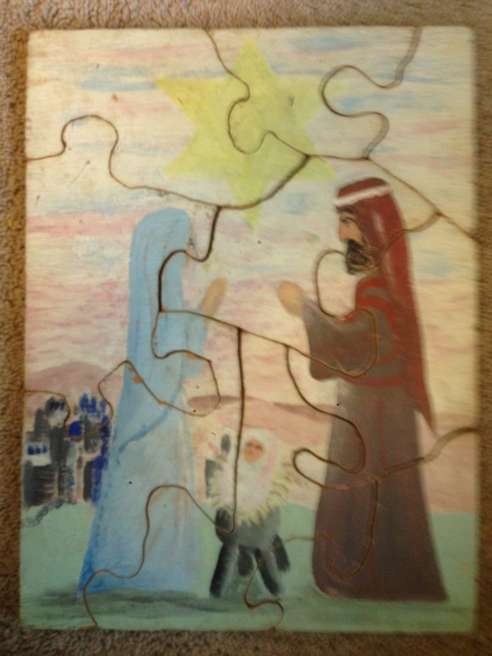 "Nativity (3/4"" plywood) acrylic"