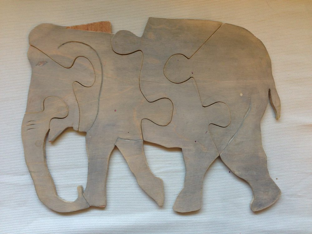 Elephant (Baltic Birch) acrylic stained