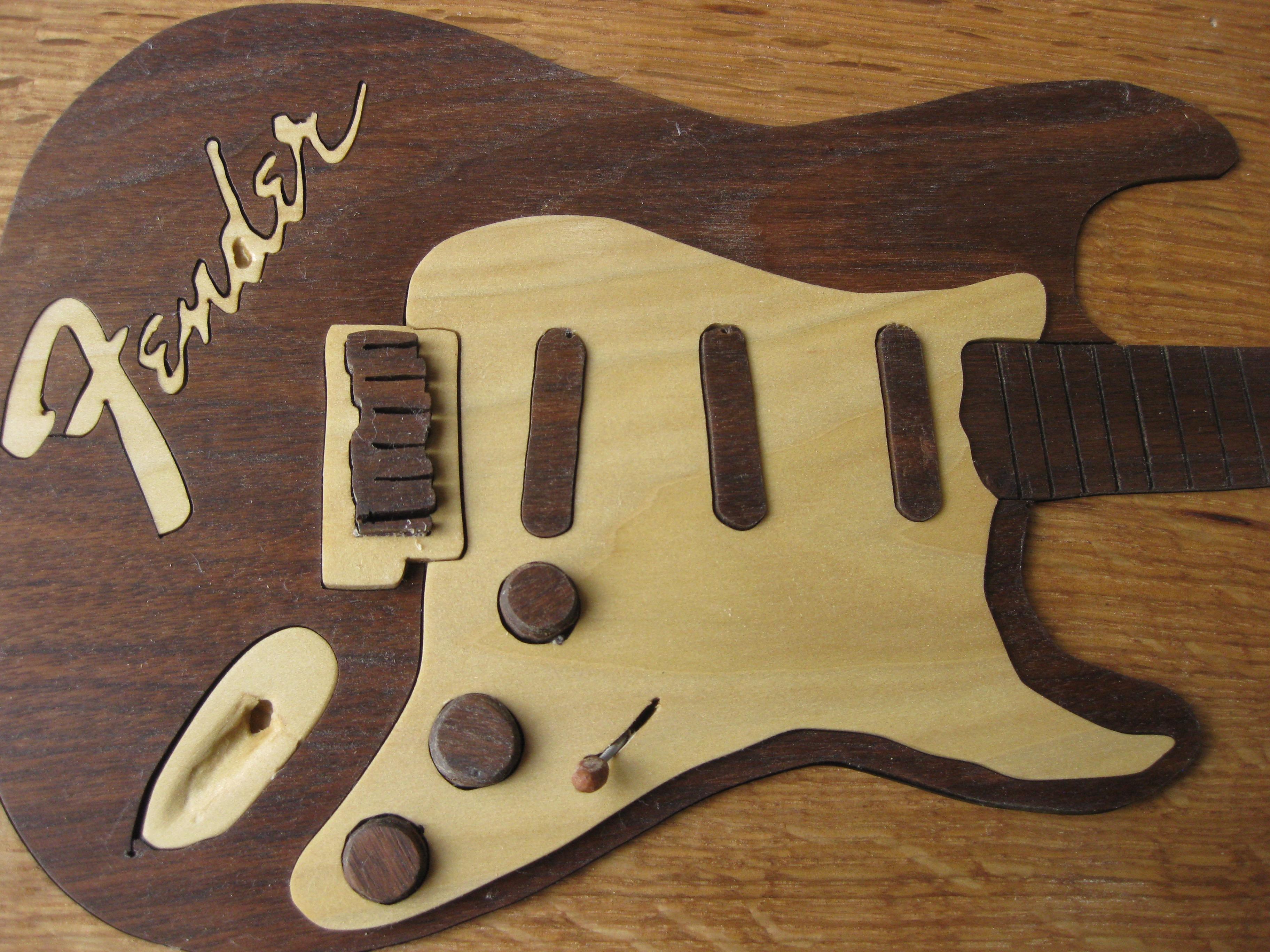 body of Fender Guitar Art Puzzle