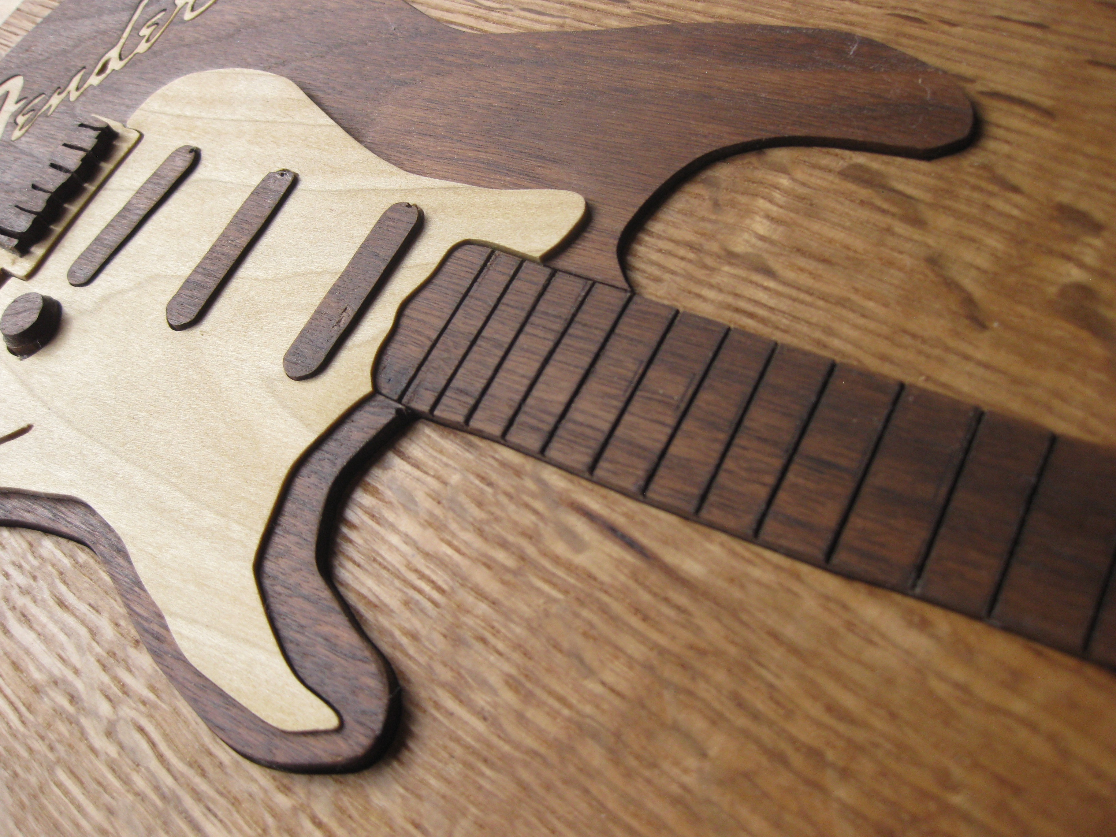 Top Slant View of Fender Guitar Art Puzzle