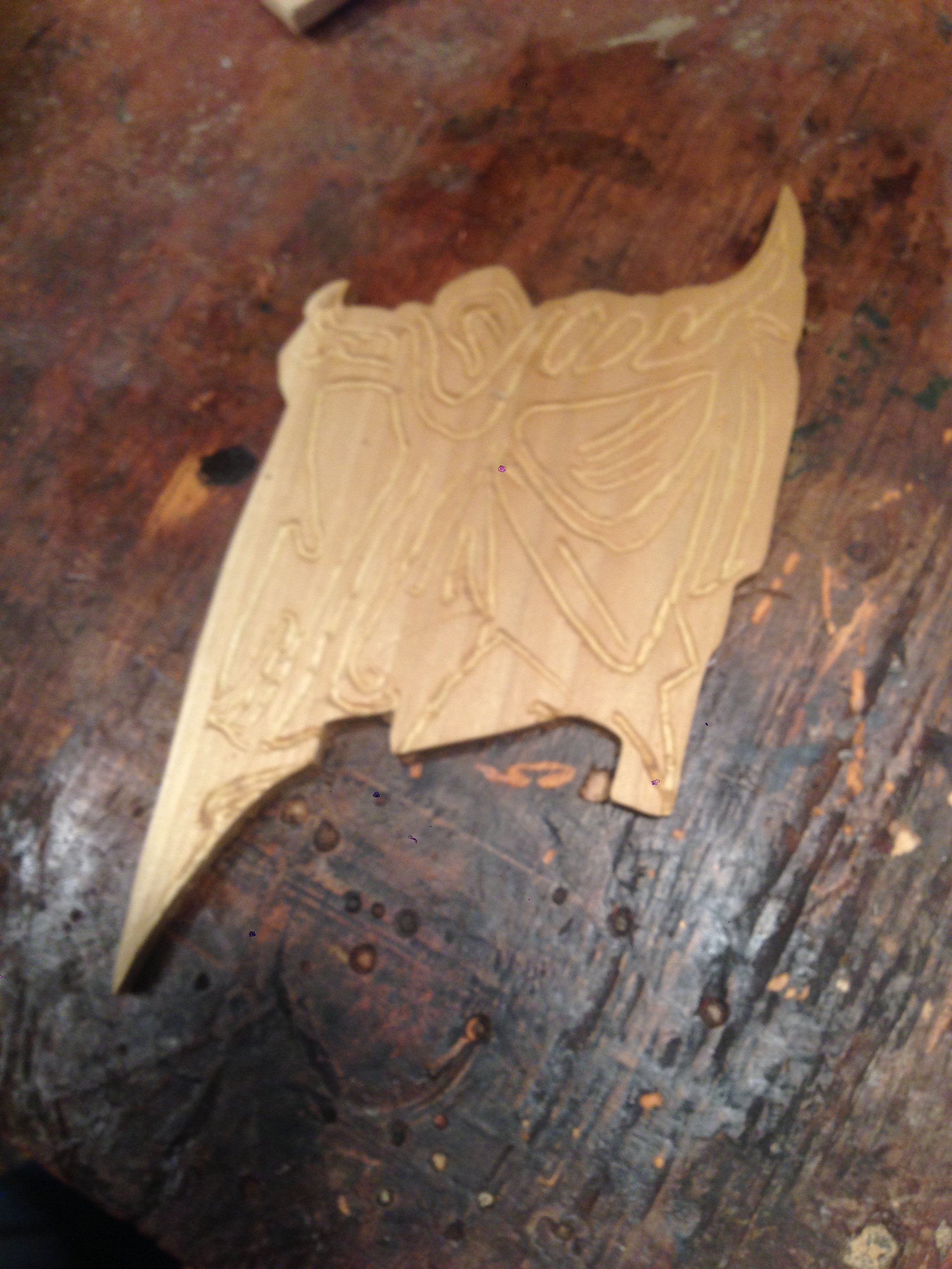 initial carving of loin cloth