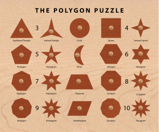 Polygon Puzzle Shape Sorter
