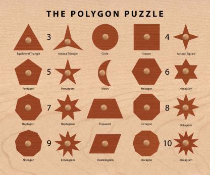 Polygon Puzzle Shape Sorter