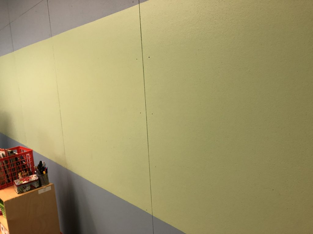 Classroom 1 Corkboard Wall with Green Inset