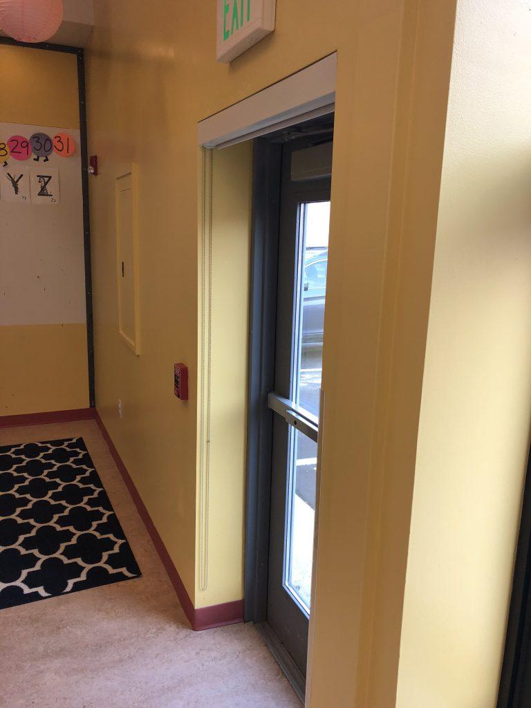 Classroom 2 Rear Entrance Yellow Wall